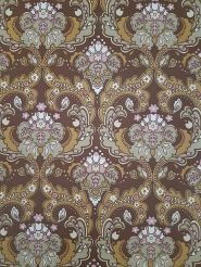 Brown and pink damask vintage wallpaper