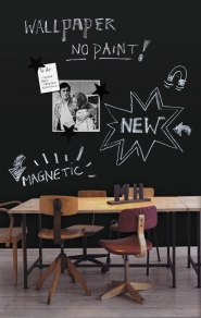 Magnetic chalkboard wallpaper
