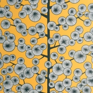 Miss Print wallpaper Cotton tree yellow