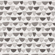 Miss Print wallpaper Allsorts black and white