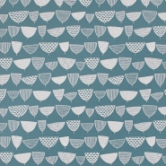 Miss Print wallpaper Allsorts bluegreen