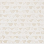 Miss Print wallpaper Allsorts white and gold