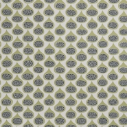 Miss Print wallpaper Fig Olive green