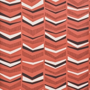 Miss Print wallpaper Chevron Berry