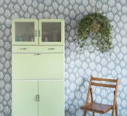 Miss Print wallpaper Hoja grey