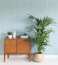 Miss Print wallpaper Muscat blue