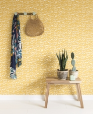Miss Print wallpaper Saplings yellow