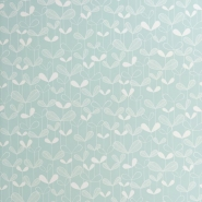 Miss Print wallpaper Saplings light blue