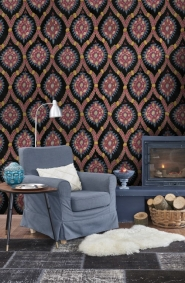 Premium wallpaper Ottoman anthracite