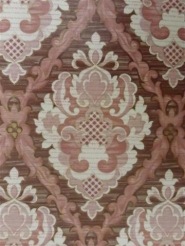 brown pink medallion