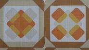 orange brown geometric pattern vintage wallpaper