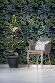 Premium wallpaper Palmeras Anthracite