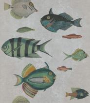 Fish wallpaper grey