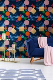 Premium wallpaper Pseudomorph blue