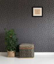 Miss Print wallpaper Tarn grey copper