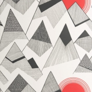 Miss Print wallpaper Mountains red