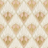 Revival wallpaper pink gold