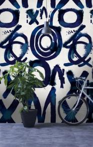 Premium wallpaper Spontaneous blue