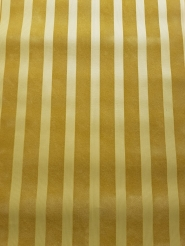Vintage flock wallpaper ochre vertical lines