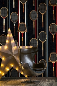 Tennis rackets wallpaper black