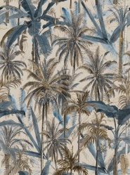 Premium wallpaper The Jungle Smoke Blue