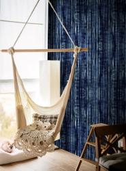 Premium wallpaper Tie Dye Indigo