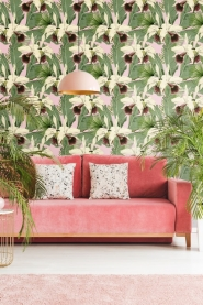 Premium wallpaper Tropical island pink