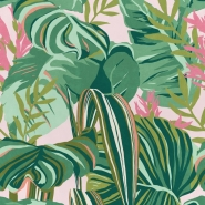Premium wallpaper Tropical Foliage pink