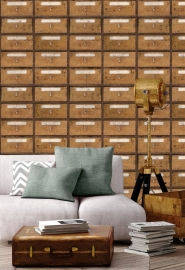Vintage pharmacy wallpaper