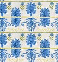 Premium wallpaper Mykonos villa blue-white