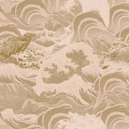 Papier peint de luxe Sea Waves taupe