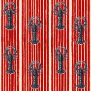 Premium wallpaper Lobsters red