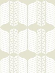 white figure on a beige/grey background
