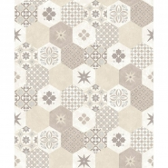 Tiles imitation wallpaper beige