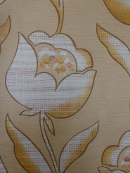 vintage floral wallpaper brown