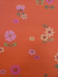 vintage wallpaper orange flowers