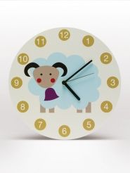 Clock kids sheep white