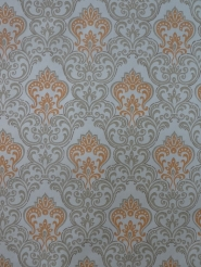 orange grey damask vintage wallpaper