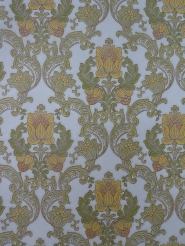 green yellow damask vintage wallpaper