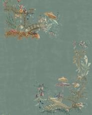Premium wallpaper Chinoiserie blue