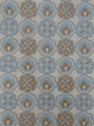 geometric vintage wallpaper blue brown