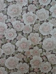 vintage brown pink floral wallpaper