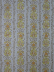 orange yellow damask vintage wallpaper