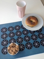 Stars blue placemats 4x