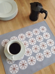 Stars grey placemats 4x