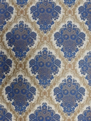blue beige damask wallpaper