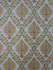 green orange damask vintage wallpaper