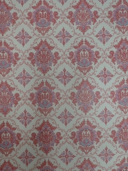 Pink blue damask vintage wallpaper