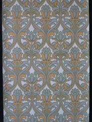 Grey orange floral damask vintage wallpaper