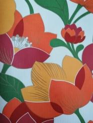 vintage floral wallpaper big flowers